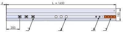 Однорядная консоль DN 3