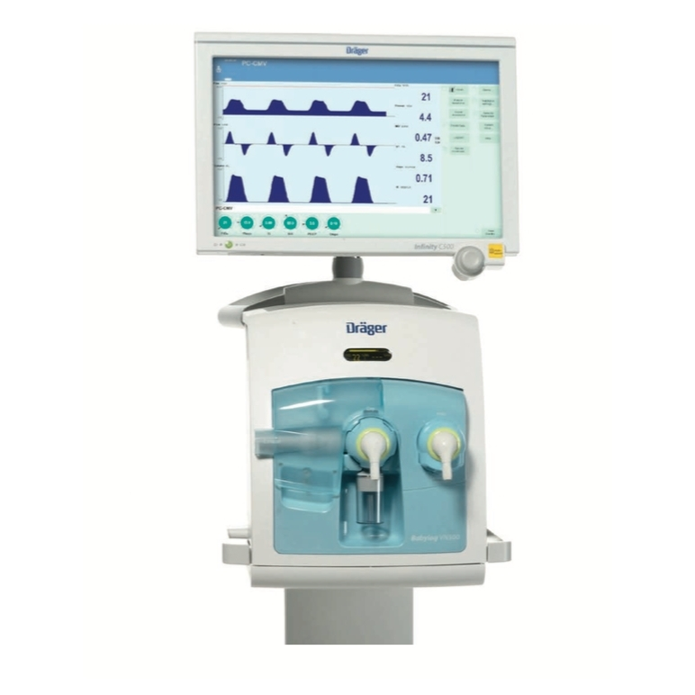 Аппарат искусственной вентиляции легких, аппарат ИВЛ для детей и новорожденных Dräger Babylog® VN500