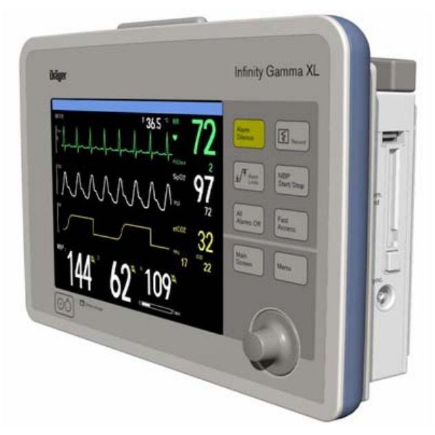 """Универсальный модульный монитор пациента Draeger """"Infinity Gamma XL"""""""