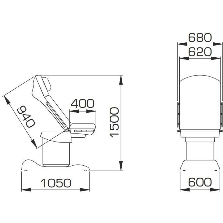 Кресло гинекологическое КГМ-2П (МЕДИН)
