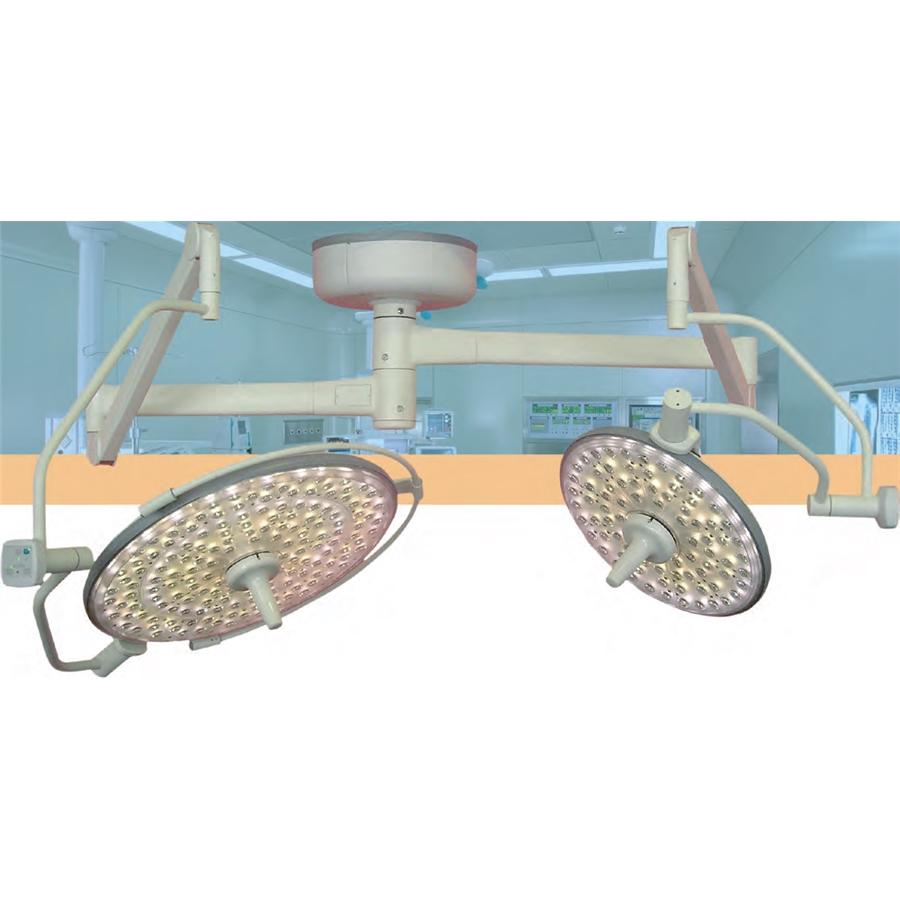 Двухкупольные потолочные бестеневые светильники на светодиодах Конвелар 1677ЛЕД/ 1675ЛЕД/ 1655ЛЕД (DIXION)