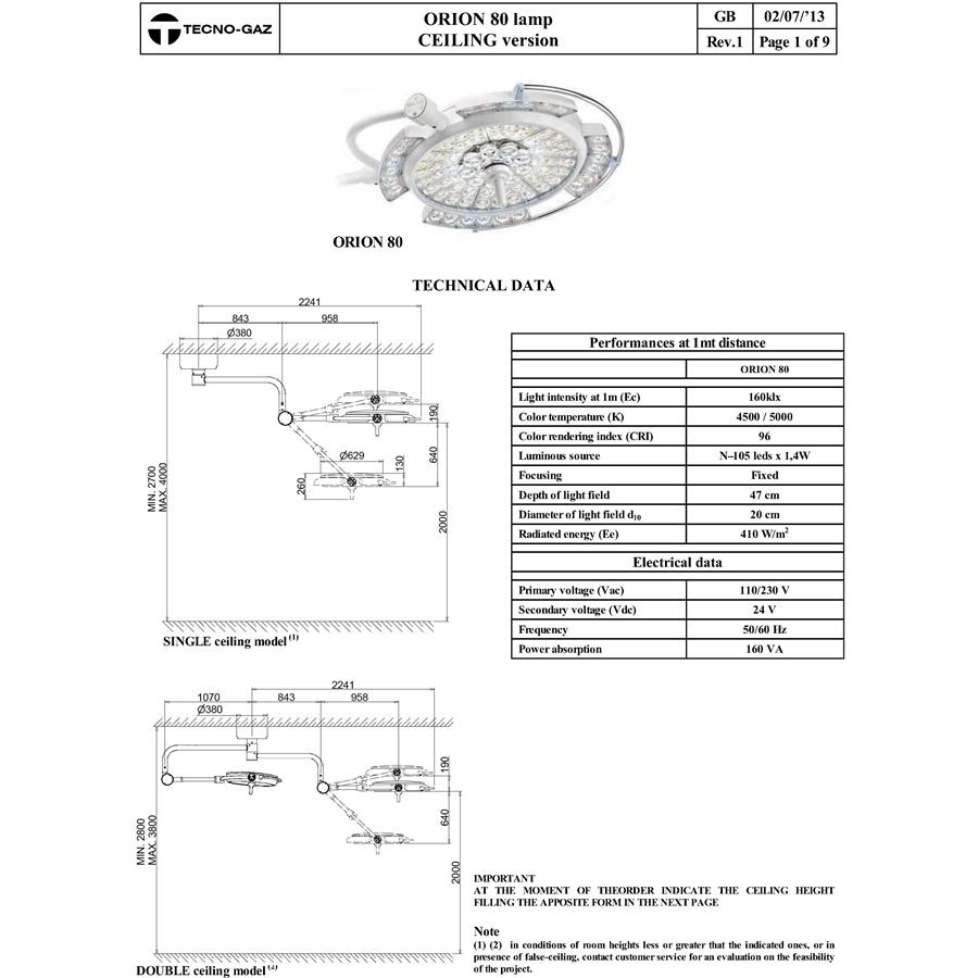 Бестеневые светодиодные светильники (TECNO-GAZ)
