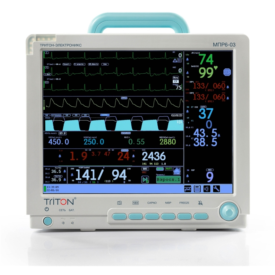 Монитор анестезиологический МПР 6-03 дисплей 15'' Комплектация А2 (Triton)
