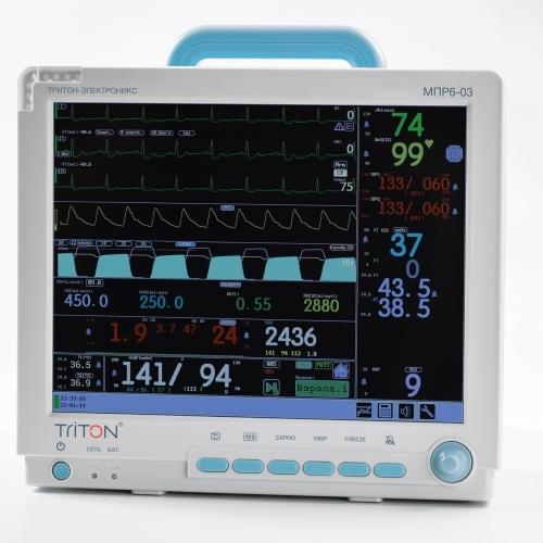Монитор гемодинамический реанимационный МПР 6-03 TRITON дисплей 15'' Комплектация Р4 (TRITON)