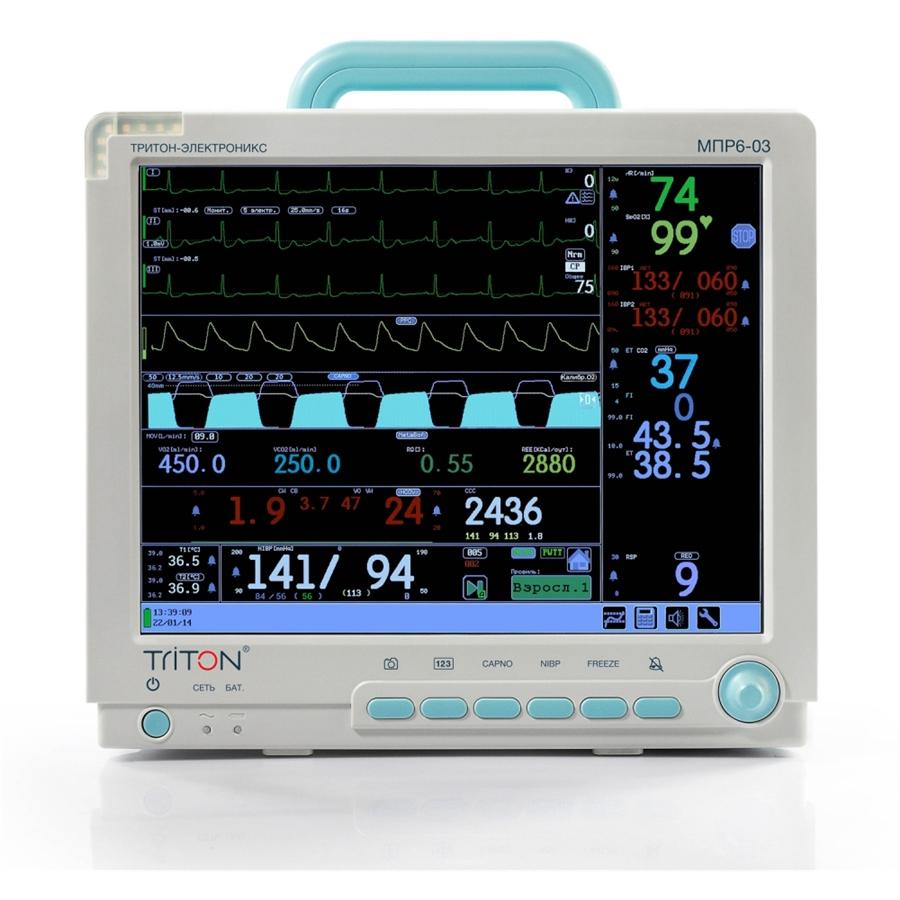 Монитор гемодинамический реанимационный МПР 6-03 TRITON дисплей 15'' Комплектация Р2 (TRITON)