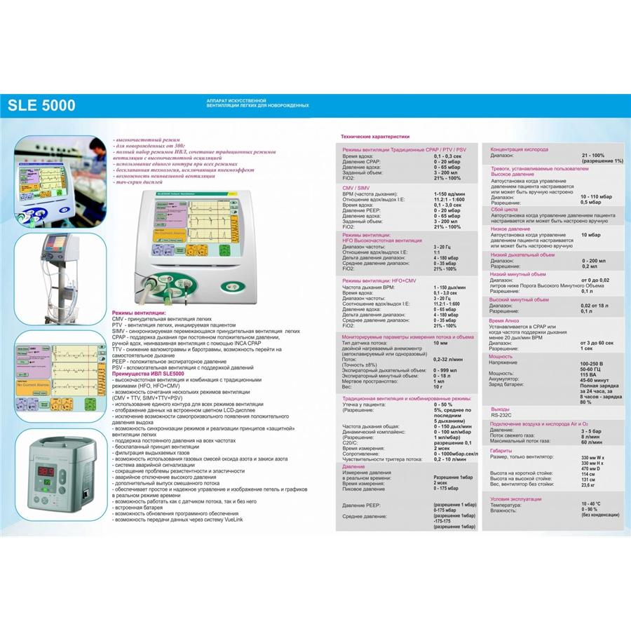Аппарат искусственной вентиляции легких для новорожденных SLE 5000 (SLE)