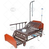 Кровать механическая Med-Mos Е-45А (ММ-5424Н-01) с боковым переворачиванием, туалетным устройством и функцией «кардиокресло»