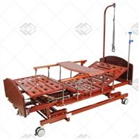 Кровать механическая Med-Mos E-31 (ММ-3024Н-00, ММ-3014Н-00) (3 функции) с ростоматом и полкой