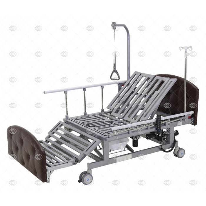 Кровать электрическая Med-Mos DB-11А (ММ-221ТПН)  с боковым переворачиванием, туалетным устройством и функцией «кардиокресло»