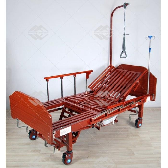 Кровать механическая Med-Mos YG-5 (ММ-036ПН) с боковым переворачиванием, туалетным устройством и функцией «кардиокресло»