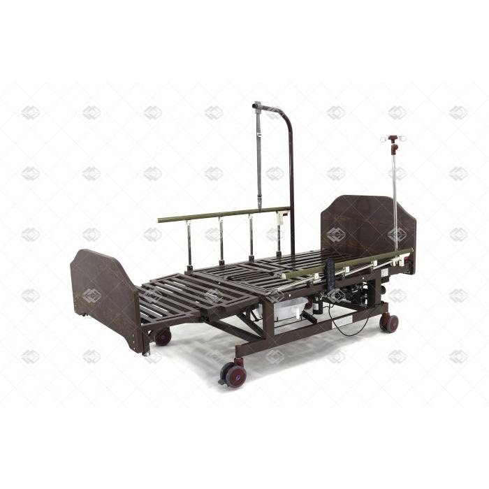 Кровать электрическая Мед-Мос DB-11А (МЕ-5228Н-10) ЛДСП Венге с боковым переворачиванием, туалетным устройством и функцией «кардиокресло»