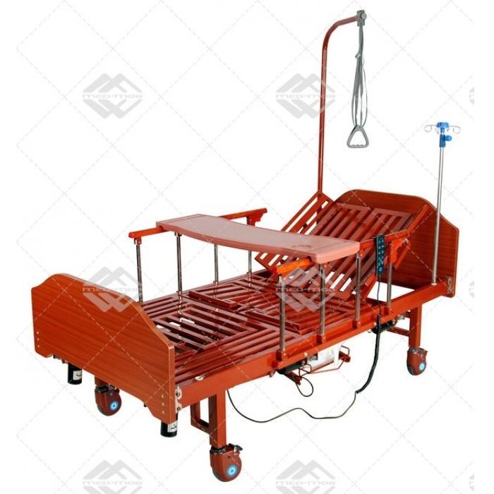 Кровать электрическая Med-Mos YG-3 (МЕ-5228Н-01) с боковым переворачиванием, туалетным устройством и функцией «кардиокресло»