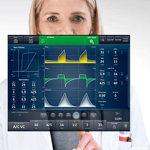 Аппарат искусственной вентиляции легких, аппарат ИВЛ Carescape R860 (GE Healthcare)