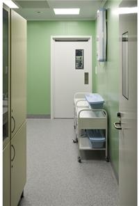 Вход в операционное отделение (особо чистая зона)