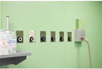 Система клапанов медицинских газов и AGSS интегрированная в панели чистых помещений
